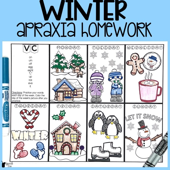 Winter Apraxia Homework