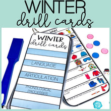 Load image into Gallery viewer, Winter Drill Cards for Speech and Language