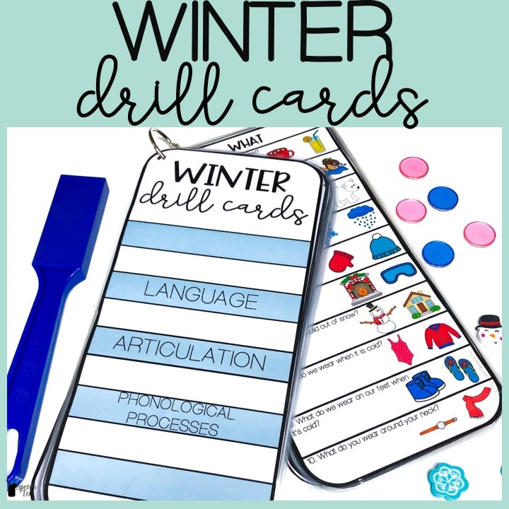 Winter Drill Cards for Speech and Language