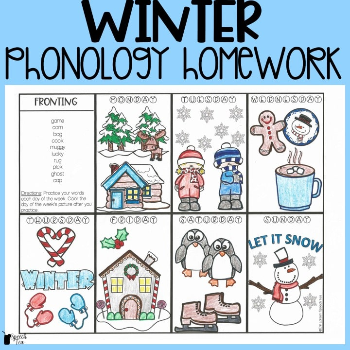 Winter Phonological Processes Homework
