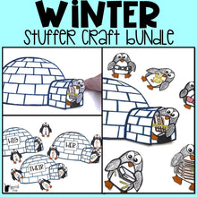 Load image into Gallery viewer, Winter Speech Therapy Stuffer Craft Bundle