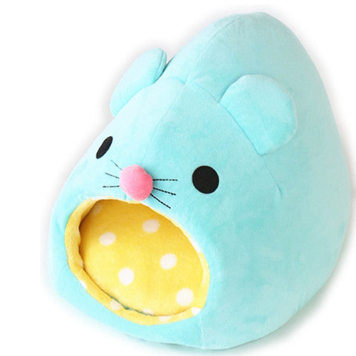 Blue Mouse Cat Bed - Hannari  - 1
