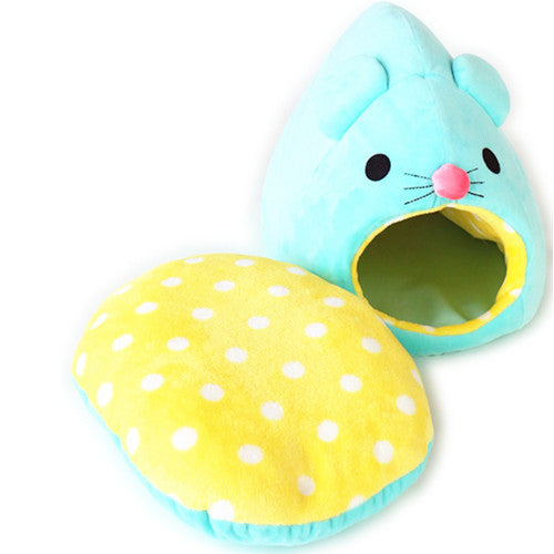 Blue Mouse Cat Bed - Hannari  - 4