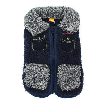 Blue Jean Fleece Vest - Hannari  - 1