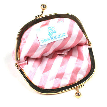 Small Pink/Blue Cat Pouch - Hannari  - 4