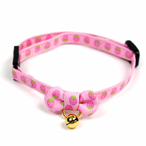 Pink Strawberry Collar for Cat - Hannari  - 2