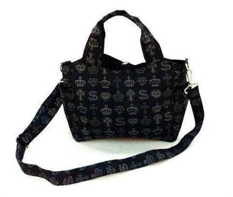 Crown Print Dog Walking Bag - Hannari