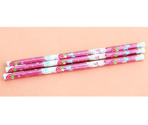 Cutie Strawberry Pencil Pack (3 ct.) - Hannari  - 1
