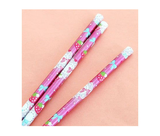 Cutie Strawberry Pencil Pack (3 ct.) - Hannari  - 2