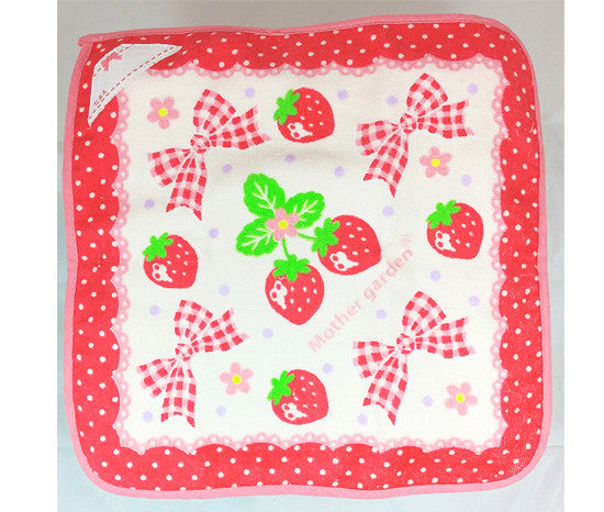 Cutie Strawberry Hand Towel - Hannari  - 3