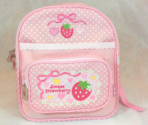 Sweet Strawberry Polka Dot Back Pack - Hannari  - 1