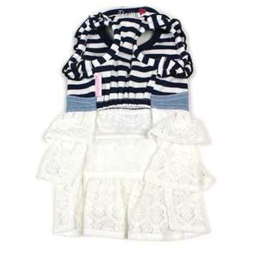 Striped Shirt with Skirt Outfit - Hannari  - 2