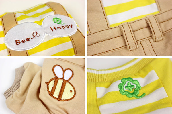 """Bee Happy"" Overalls Outfit"