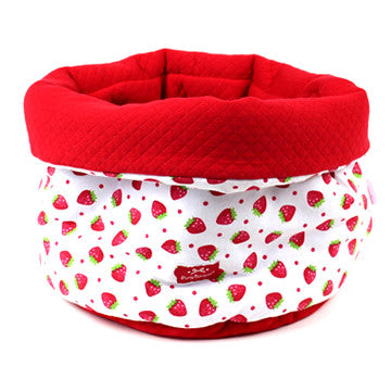 Strawberry Patterned Pouch Bag