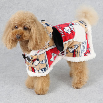 Peanuts Comic Fleece Poncho - Hannari  - 1