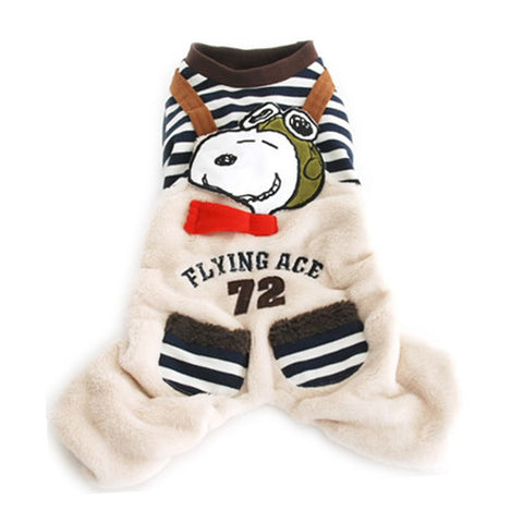 "Snoopy ""Flying Ace"" Overalls - Hannari  - 1"