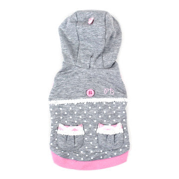Grey Polka Dot Sweater - Hannari  - 1