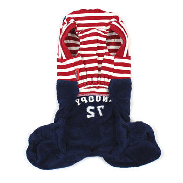 Snoopy Red Stripe Shirt with Overalls - Hannari  - 2