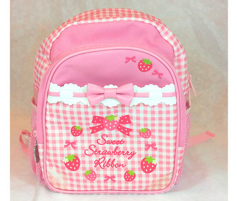 Checkered Cutie Strawberry Back Pack - Hannari  - 1