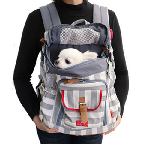 Gray Striped Back Pack - Hannari  - 1