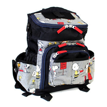 Peanuts Striped Comic Back Pack - Hannari  - 1