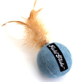 Ball and Feather Cat Toy - Hannari  - 1