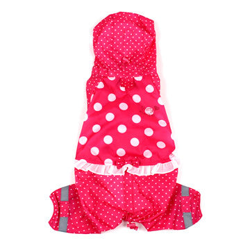 Pink Polka Dot Raincoat - Hannari  - 1