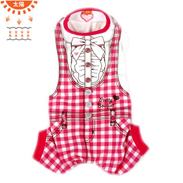 Red Checkered Overalls - Hannari  - 1