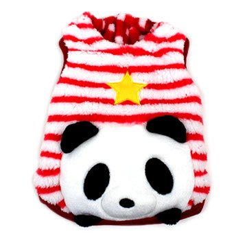 Red Stripe Panda Vest Costume - Hannari  - 1