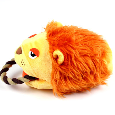 Lion Puppet Rope Toy - Hannari  - 2