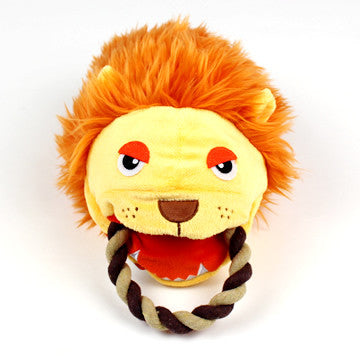 Lion Puppet Rope Toy - Hannari  - 4