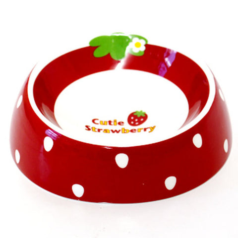 Cutie Strawberry Food Bowl - Hannari  - 1