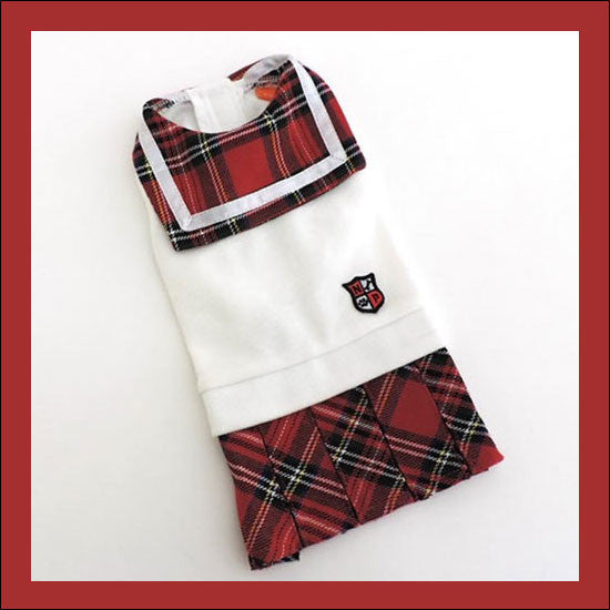 Red Plaid School Uniform - Hannari  - 1