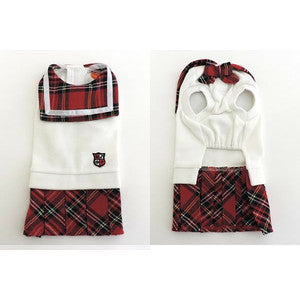 Red Plaid School Uniform - Hannari  - 2