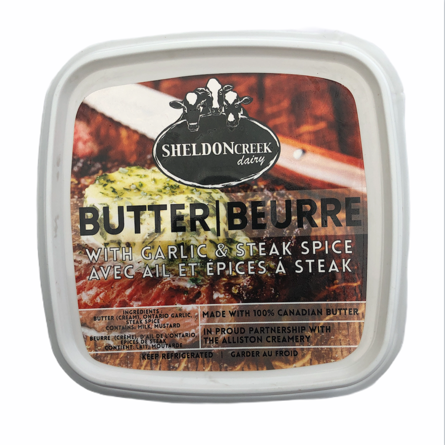 Butter w- Garlic & Steak Spice - From The Farmer.ca