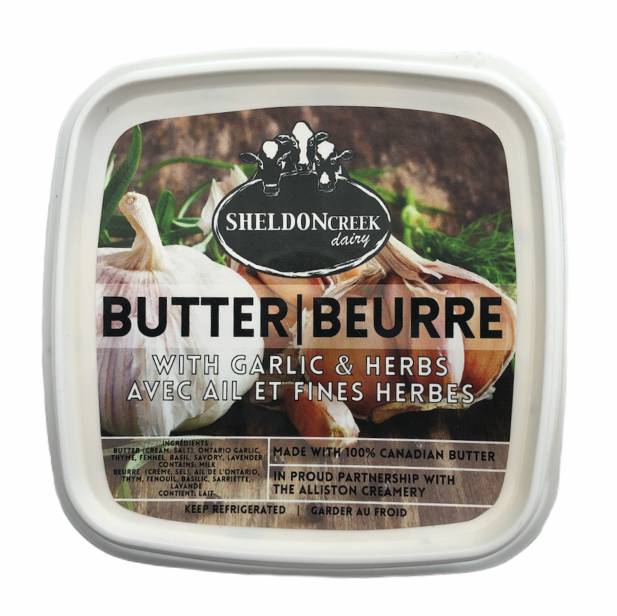 Butter with Garlic & Herbs - From The Farmer.ca