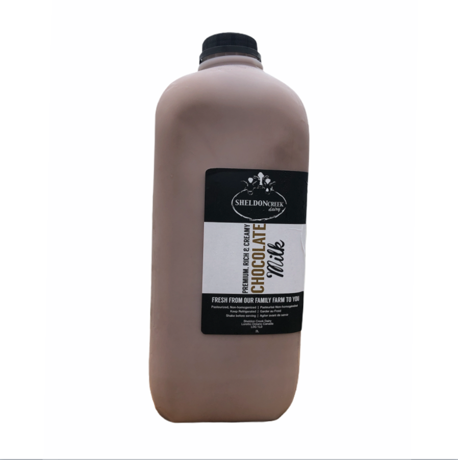 2L Chocolate Milk Plastic Jug - From The Farmer.ca