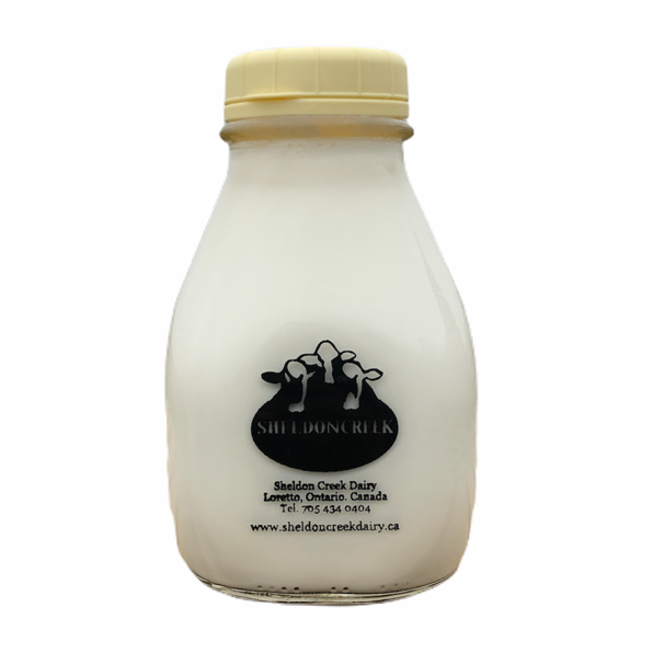 Cream 45% 1 Pint Glass Bottle - From The Farmer.ca
