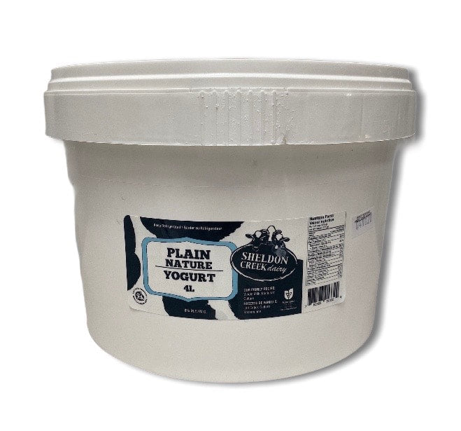 4.5L Pail Of Plain Yogurt - From The Farmer.ca