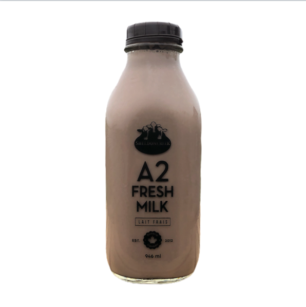 A2 Chocolate 1Qt Glass Bottle - From The Farmer.ca