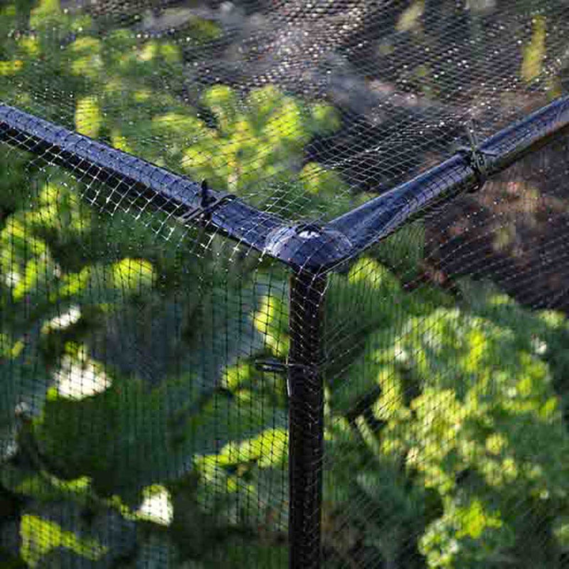 STEEL LOW FRUIT CAGE-corner CU- Knowle Nets