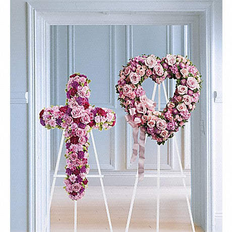 Rose Garden Heart or Cross
