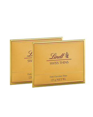 Lindt Thins Dark Chocolate 125 gm Pack