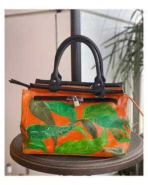Leaves Bag - Hand Painted