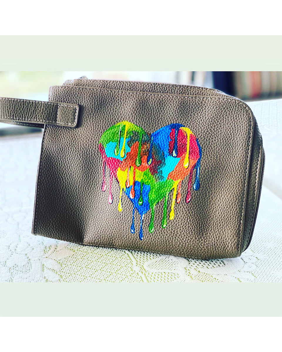 Heart Bag - Hand Painted