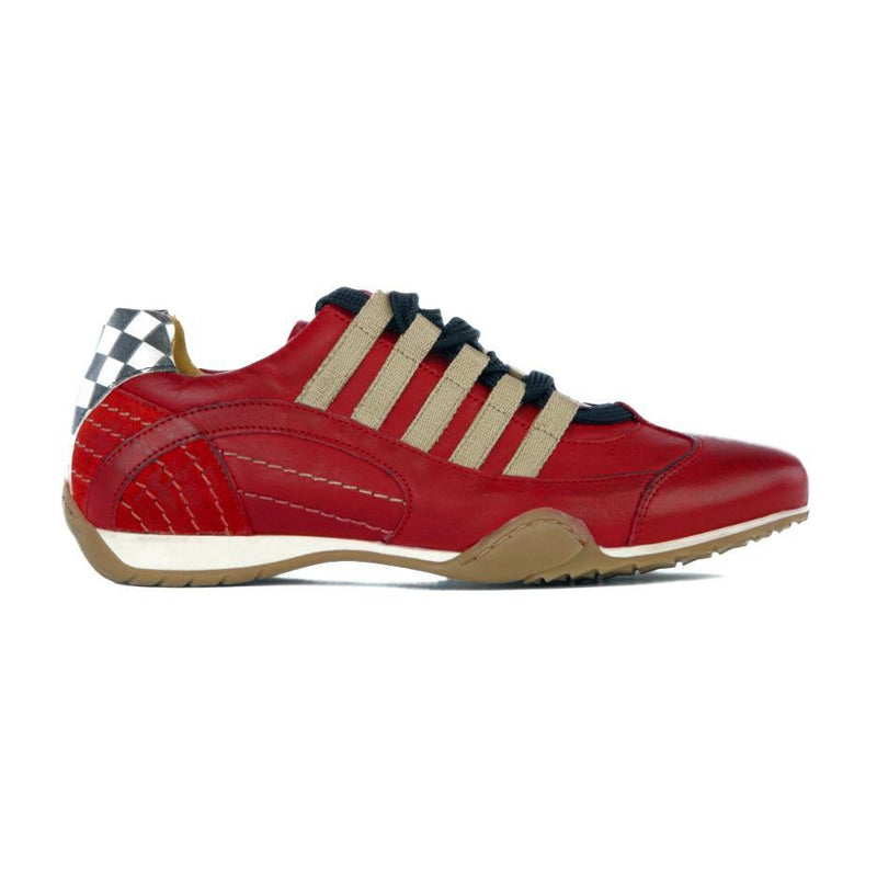 Women's Racing Sneaker in Corsa Rosso (Red and Sand) - GrandPrix Originals USA