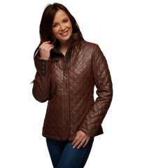 Women's Sento Jacket in Cognac - GrandPrix Originals USA
