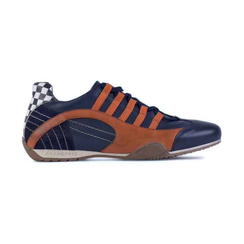 Women's Racing Sneaker in Indigo Orange (Navy and Orange) - GrandPrix Originals USA