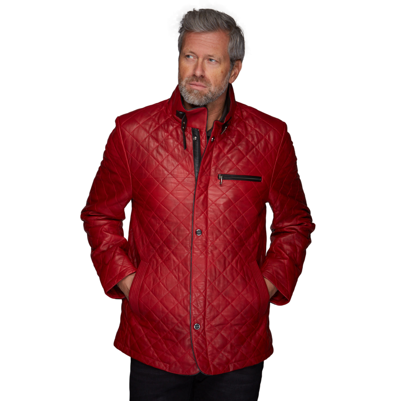 Men's Sento Jacket in Corsa Rosso - GrandPrix Originals USA