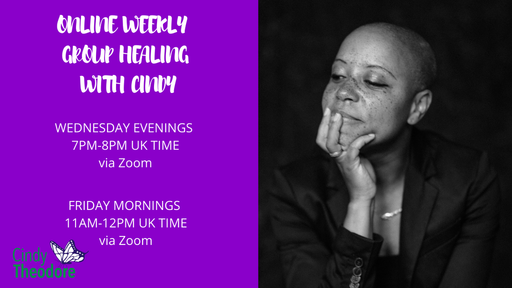 ONLINE WEEKLY GROUP HEALING  WITH CINDY